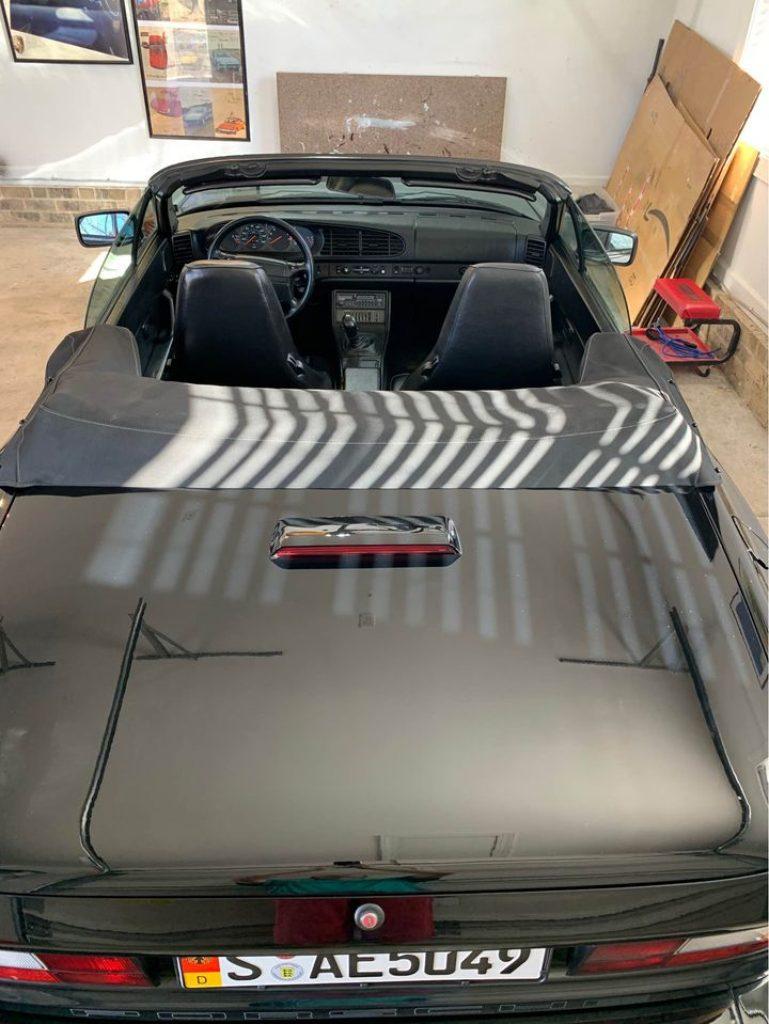 1990 Porsche 944 S2 Black Overhead